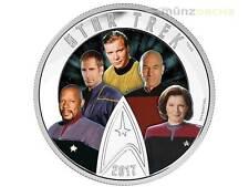 30 $ Dollar Star Trek Enterprise Five 5 Captains Kanada 2 oz Silber PP 2017