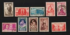 France - 10 semi-postals from 1939-40, cat. $ 80.00