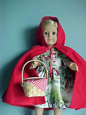 Awesome!! RED RIDING HOOD Dress:  Red Cape & Basket included fits American Girl