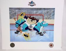 Looney Tunes New York NY Islanders Devil of a Save NHL Hockey Taz Goalie Litho