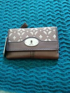 FOSSIL Brown Wallet Leather Purse BNWT B13