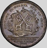 German St. Regensburg 1773 Thaler AR, RR. NGC AU58. Ex. Virgil M. Brand (NE) 4k