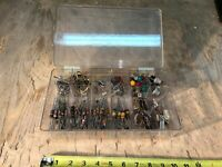 Resistors Capacitors Panel Indicator Lights + Switches Lot