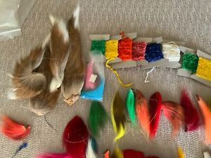 BUCKTAIL ESTATE LOT INCLUDES CHENILLE +SQUIRREL TAIL