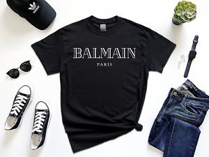 Brand New Elite Balmain Fashion Short Sleeve 100% Cotton Crew Neck Unisex TShirt