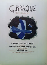 Georges Braque - Mourlot lithograph - Galerie Nicolas Rauch -Geneve - 1959
