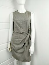 Warehouse Womens Checked A Line Knee Length Belted Fitted Occasion Dress Size 8