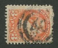 """CANADA #41 USED SMALL QUEEN 2-RING NUMERAL CANCEL """"40"""" (.04)"""
