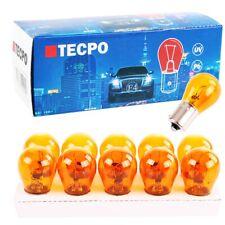 10x TECPO PY21W BLINKERBIRNEN ORANGE 12V 21W BLINKER-LAMPE BAU15S KUGELLAMPE