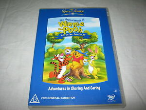 Winnie the Pooh - All For One, One For All - RARE - VGC - DVD - Region 4