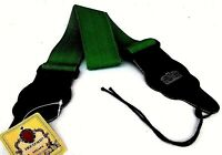 Guitar Strap Dark Green Nylon for electric guitars, bass acoustic and classical