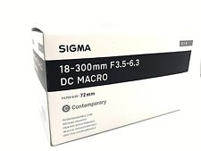 New SIGMA 18-300mm f/3.5-6.3 DC MACRO HSM Contemporary Lens for SONY A Mount
