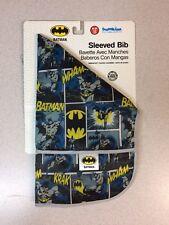 (1) Bumkins Dc Comics Waterproof Sleeved Bib Batman Comic 6-24m Free Ship