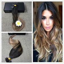 Full Shine Ombre U/Nail Tip Remy Human Hair Extensions 100g Prebonded Hair