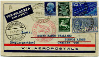 """1934 Dirigibile Graf Zeppelin cover from Italy to Buenos Aires """"letter B"""" Longhi"""