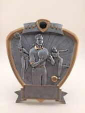 FEMALE SHIELD BOWLING RESIN TROPHY!  FREE ENGRAVING!  SHIPS IN 1 BUSINESS DAY!!