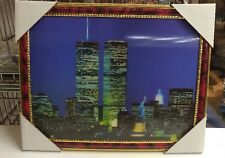 "World Trade Center Picture Framed 3D Twin Towers 13.5"" X 10.5"" New #1"