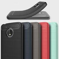 Hybrid Rubber Silicone Soft Brushed Case Cover For Motorola Moto C G6 / G5 Plus