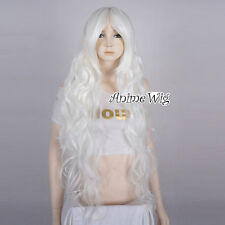 Lolita White Long 85CM Curly Fashion Party Women Cosplay Wig + Wig Cap