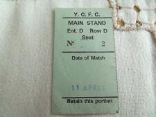 YORK CITY FC OLD AND RARE MATCH TICKET STUB