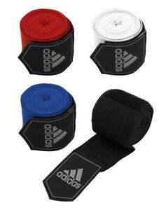 Adidas Boxing Hand Wraps 255cm ABA Muay Thai Wrist Bandages Black Red Blue White