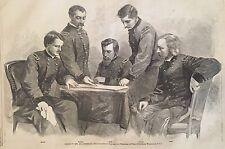 1865 CIVIL WAR newspaper General GEORGE A CUSTER w PHILIP SHERIDAN Thomas Nast