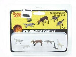 HO 1/87 Scale Woodland Scenics A1942 Wildlife Standoff Figures Pack - Sealed