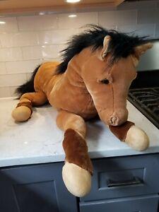 "E & J Classic 36"" Horse Plush Stuffed Animal Brown"