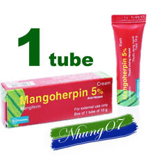 1 Tube Mangoherpin 5% Treatment Herpes Simplex, Herpes Zoster, Eczema Caposi