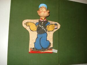 1960 POPEYE HAND PUPPET, NICE SHAPE, GUND, FULLY LICENSED, TAGGED