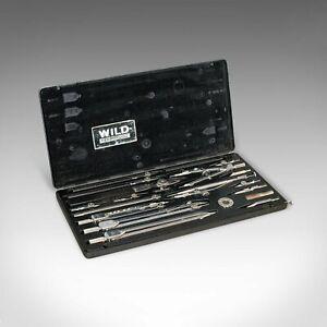 Vintage Instrument Set, Swiss, Precision, Technical Drawing, Wild Heerbrugg