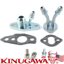 Turbo Oil & Water Flange TOYOTA CT9 CT12 CT20 CT26 8AN Oil Return Universal