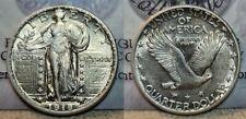 1918 D Standing Liberty Quarter 25c  Beautiful AU