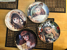 Franklin Mint Hanau Doll Museum Portrait Collector Set Of 4 Plates