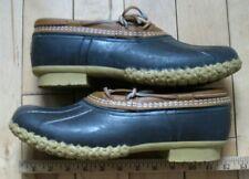 LL Bean USA Low Duck Bean Shoes Rubber Leather Mens Sz 10 m Mocs Rain Boat