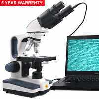 SWIFT 40X-2500X Brinocular Compound Microscope LED Lab Light with Digital Camera