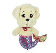 BARBIE DREAMTOPIA MER-HONEY PUPPY DOG MERMAID GLITTER STUFFED ANIMAL PLUSH TOY