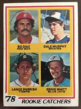 1978 Topps Rookie Catchers Bo Diaz-Dale Murphy-Lance Parrish-Ernie Whitt #708