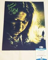 LINDA BLAIR REGAN SIGNED METALLIC 11X14 PHOTO THE EXORCIST BECKETT COA 504