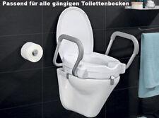 WC Sitzerhöhung Armlehnen mit Deckel Aufsatz Sitz Senioren Sicherheit  bis 150Kg