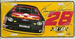 KENNY IRWIN #28 LICENSE PLATE