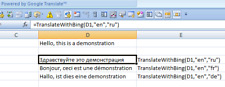 Excel Add-in for Google Translate