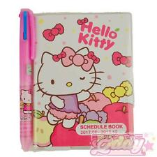 2017~2018 Hello Kitty Schedule Book Pocket Planner Agenda Apple Pink + BONUS Pen
