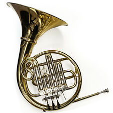 More details for french horn single in bb - chase student oufit - gold finish with hard case - 5