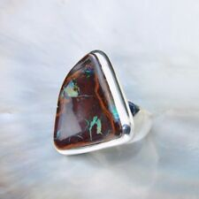 Boulder Opal Ring, 925er Silber, Edelsteinring (21021), Edelsteinschmuck