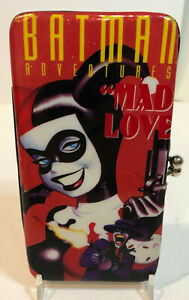 "DC Comics Harley Quinn Mad Love 7"" x 4"" Hinged Ladies Wallet Pre-owned"
