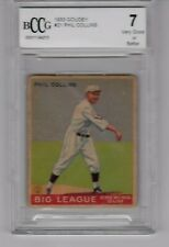 PHIL COLLINS  RC  1933 GOUDEY  #21,  BECKETT GRADED 7,  (BCCG) WELL CENTERED