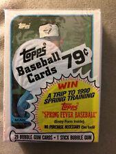 1989 Topps Baseball Card Unopened Cello Jim Abbott RC on Back