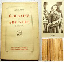 DAUDET/ECRIVAINS ET ARTISTES/ED DU CAPITOLE/1927/ED COMPLETE EN HUIT VOLUMES