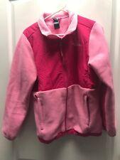 Northface Girls Size XL (18) Pink Fleece Zip Up Jacket